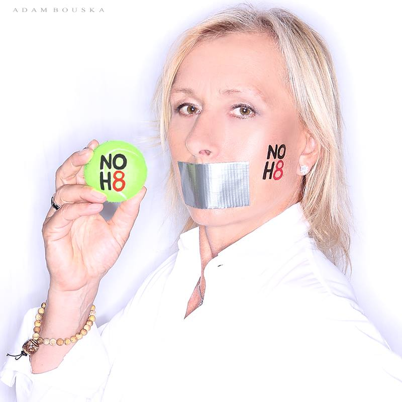 noh8 Martina Navratilova